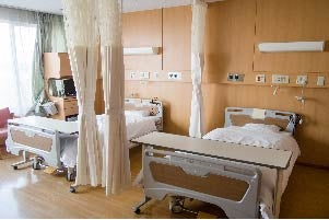 Photo of hospital beds